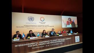 Conferencia de prensa CEPAL y Cancilleres de Centroamérica y México en Marrakech