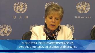 Conferencia de prensa Acuerdo de Escazú - Alicia Bárcena (CEPAL)