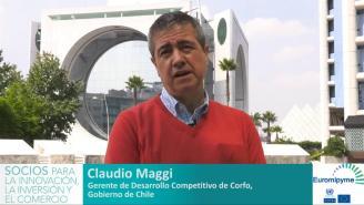 Seminario Euromipyme – Entrevista a Claudio Maggi, Gerente de Desarrollo Competitivo, Corfo.