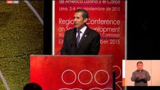 Inauguración de la Conferencia Regional sobre Desarrollo Social