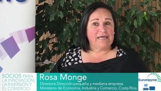 Seminario Euromipyme –Entrevista a Rosa Monge, Directora Pequeña y Mediana Empresa, Costa Rica.