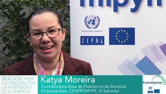 Seminario Euromipyme – Entrevista a Katya Moreira, CENPROMYPE, El Salvador.