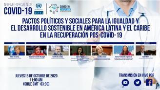 Lanzamiento Informe Especial COVID-19 N⁰ 8: Pactos sociales para la igualdad y desarrollo sostenible