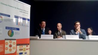 Luis Miguel Galindo, de CEPAL, en un evento de EUROCLIMA.