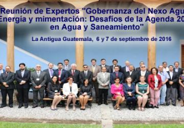 """Reunión de Expertos """"Gobernanza del Nexo Agua, Energía y Alimentación: Desafíos de la Agenda 2030 en Agua y Saneamiento"""""""