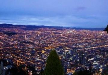 Panorama de Bogotá nocturna
