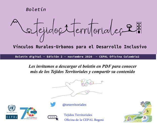 Boletín segunda edición Tejidos Territoriales