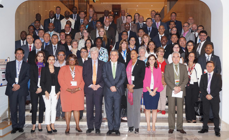 Participantes de la quinta sesión de UN-GGIM: Américas / Participants of the fifth session of UN-GGIM: Americas