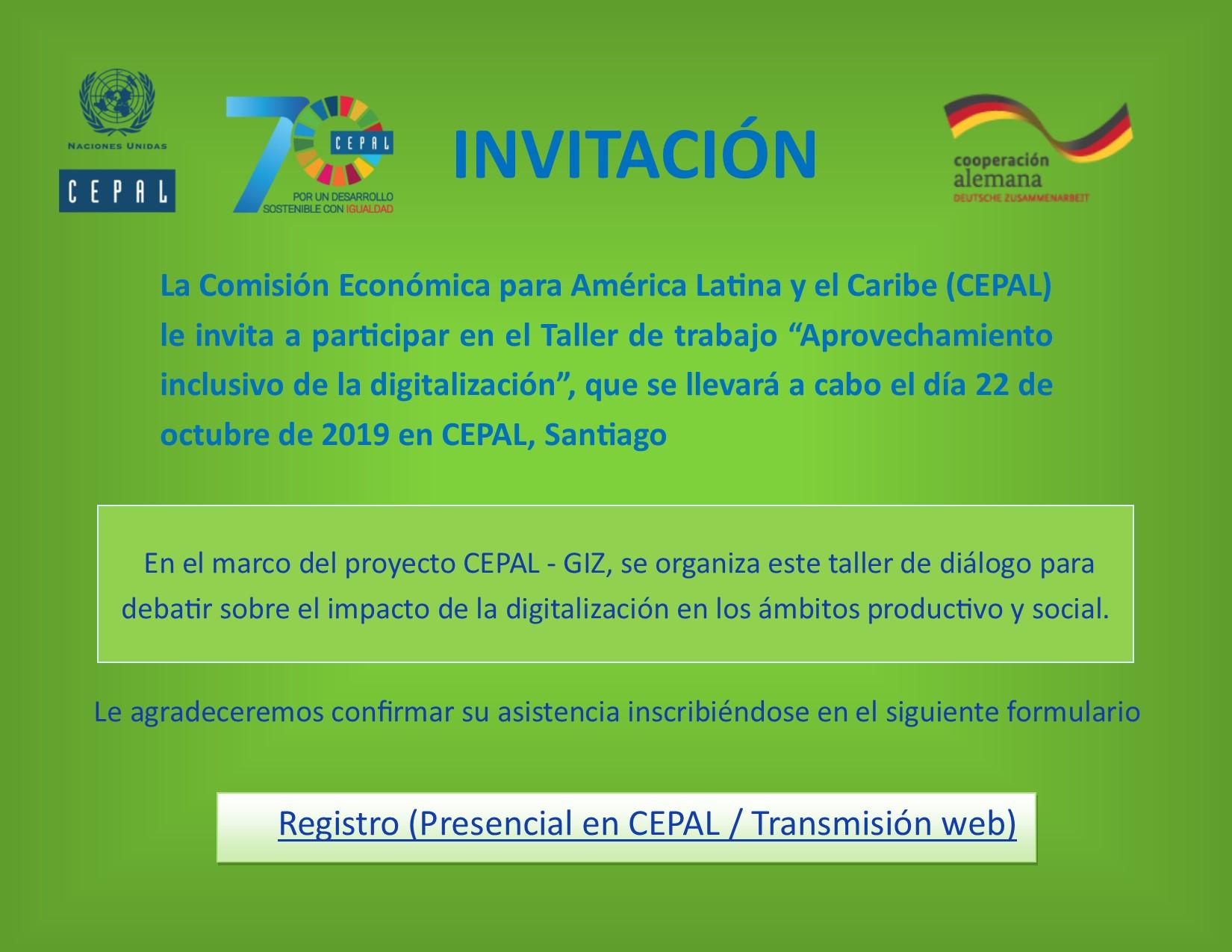 Invitación a registro para el seminario