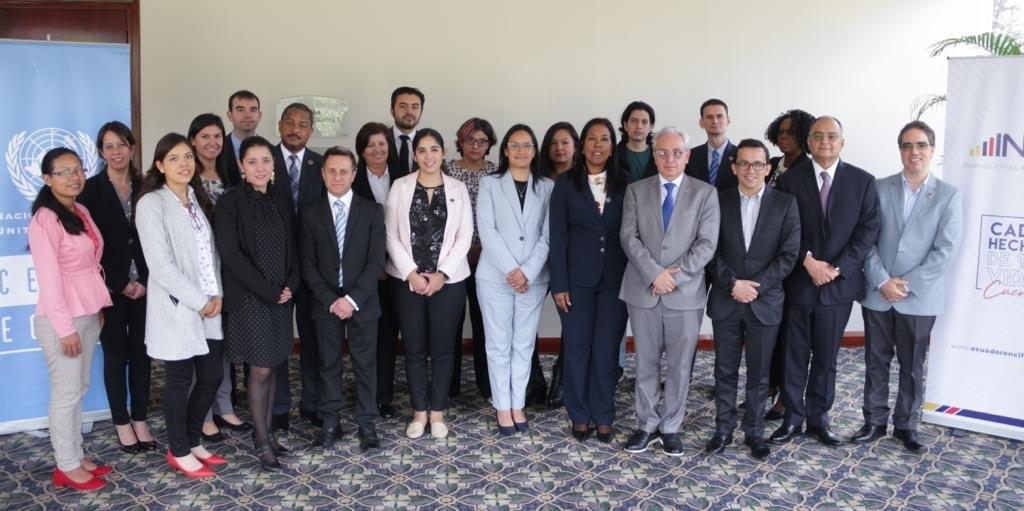Participantes de la segunda reunión presencial del Grupo de Coordinación Estadística de la Agenda 2030 en América Latina y el Caribe